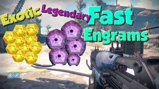 destiny how to get legendary engrams