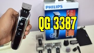philips trimmer qg3389 87 multi grooming kit beard trimmer hair clipper review unboxing. Black Bedroom Furniture Sets. Home Design Ideas